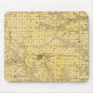 Map of Jefferson County, State of Iowa Mouse Pad