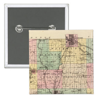 Map of Jefferson County, State of Wisconsin Pins