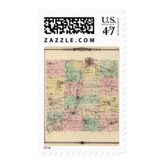 Map of Jefferson County, State of Wisconsin Postage