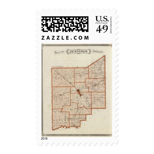 Map of Jennings County Stamps