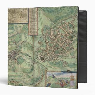 Map of Jerusalem, from 'Civitates Orbis Terrarum' 3 Ring Binder