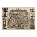 Map of Jerusalem (Ierusalem) circa 1770 Poster