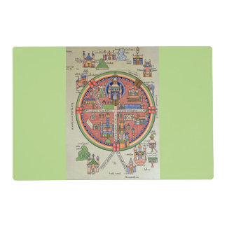 Map of Jerusalem laminated placemat
