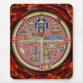 Map of Jerusalem mousepad