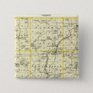 Map of Johnson County and Vienna Pinback Button
