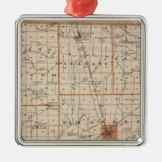 Map of Johnson County Christmas Tree Ornament