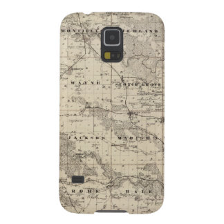 Map of Jones County, State of Iowa Galaxy S5 Case
