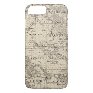 Map of Jones County, State of Iowa iPhone 8 Plus/7 Plus Case