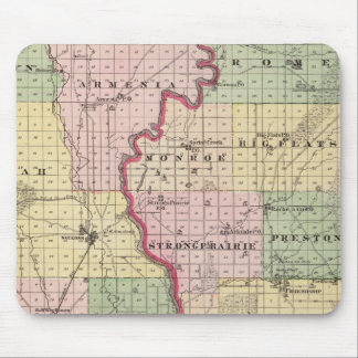 Map of Juneau and Adams counties Mouse Pad