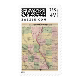 Map of Juneau and Adams counties Stamp