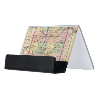 Map of Kalamazoo County, Michigan Desk Business Card Holder