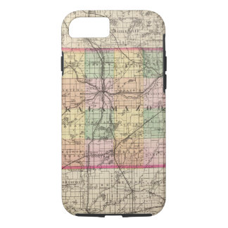 Map of Kalamazoo County, Michigan iPhone 8/7 Case