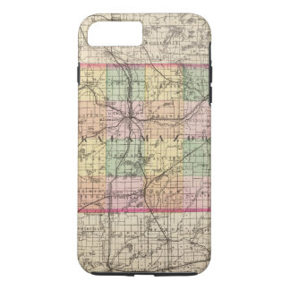 Map of Kalamazoo County, Michigan iPhone 8 Plus/7 Plus Case