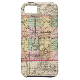 Map of Kalamazoo County, Michigan iPhone SE/5/5s Case