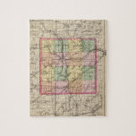 """Map of Kalamazoo County, Michigan Jigsaw Puzzle<br><div class=""""desc"""">(Map of Kalamazoo County,  Michiga) By Walling,  H. F. (187). Published by &#39;&#39;Detroit: R.M. &amp; S.T. Tackabury&#39;&#39;.</div>"""