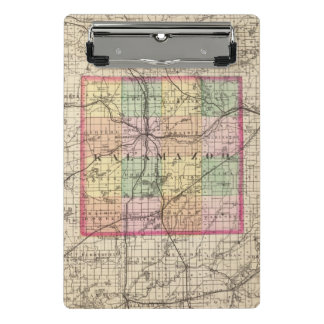 Map of Kalamazoo County, Michigan Mini Clipboard