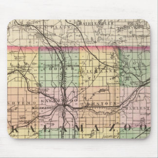 Map of Kalamazoo County, Michigan Mouse Pad