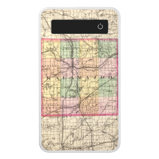 Map of Kalamazoo County, Michigan Power Bank