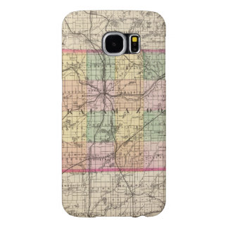 Map of Kalamazoo County, Michigan Samsung Galaxy S6 Case