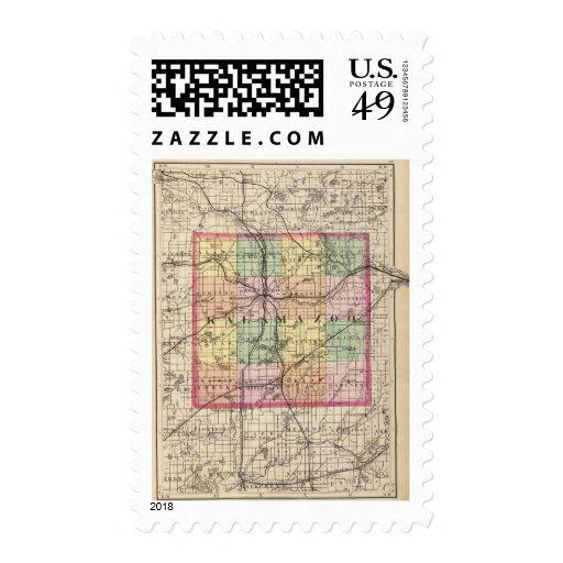 Map of Kalamazoo County, Michigan Stamps