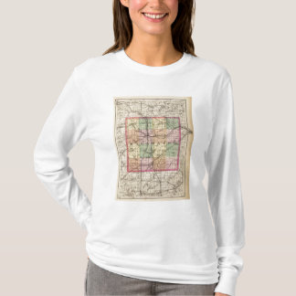 Map of Kalamazoo County, Michigan T-Shirt