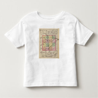 Map of Kalamazoo County, Michigan Toddler T-shirt