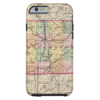 Map of Kalamazoo County, Michigan Tough iPhone 6 Case