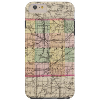 Map of Kalamazoo County, Michigan Tough iPhone 6 Plus Case