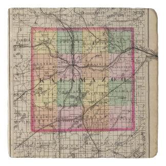 Map of Kalamazoo County, Michigan Trivet
