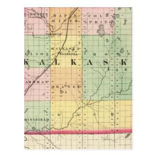 Map of Kalkaska County, Michigan Postcard