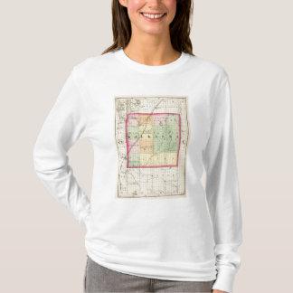 Map of Kalkaska County, Michigan T-Shirt