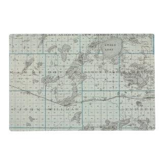 Map of Kandiyohi County, Minnesota Placemat