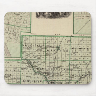 Map of Kankakee County, Kankakee and Gilman Mouse Pad