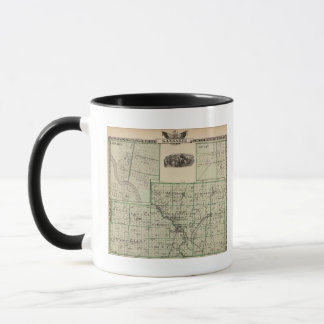 Map of Kankakee County, Kankakee and Gilman Mug