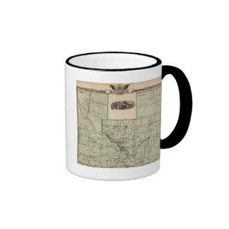 Map of Kankakee County, Kankakee and Gilman Ringer Mug