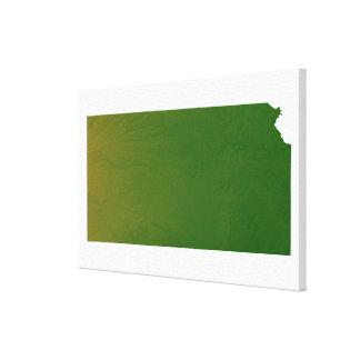 Map of Kansas 2 Canvas Print