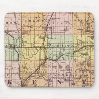 Map of Kent County, Michigan Mouse Pad