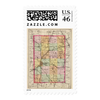 Map of Kent County Michigan Stamps