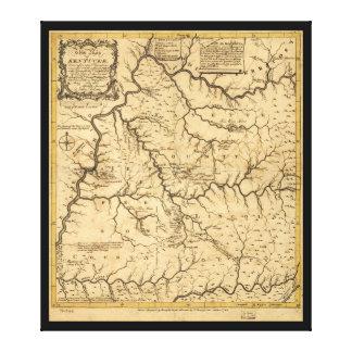 Map of Kentucke (Kentucky) from 1784 Canvas Print