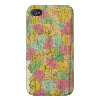 Map of Kentucky and Tennessee iPhone 4/4S Covers