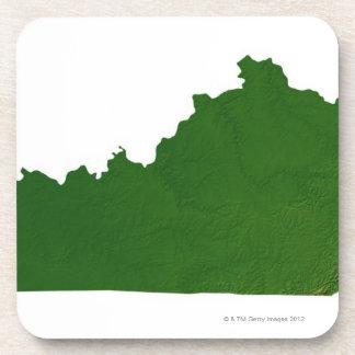 Map of Kentucky Beverage Coaster