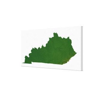 Map of Kentucky Canvas Print