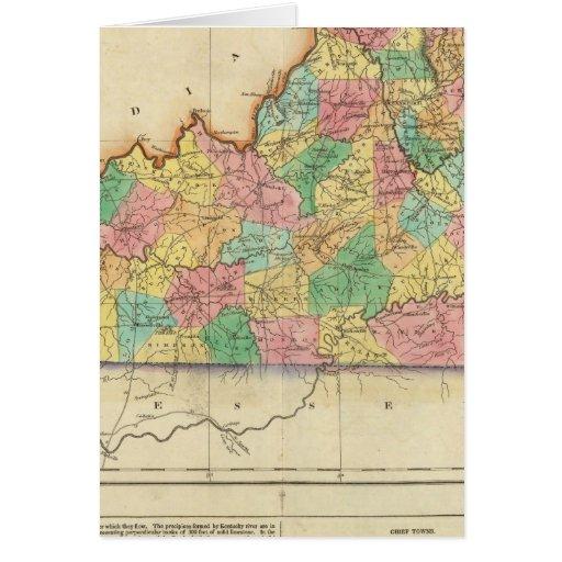 Map Of Kentucky Greeting Card