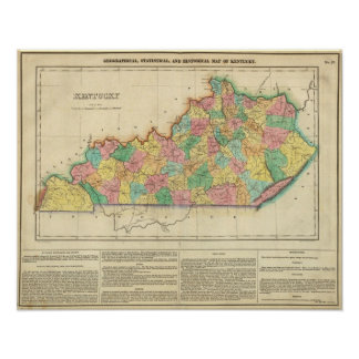 Map Of Kentucky Poster