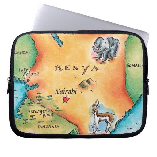 Map of Kenya Computer Sleeves