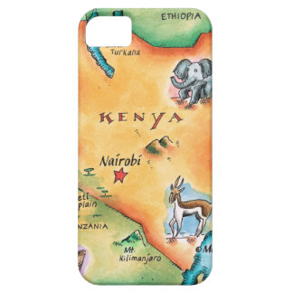 Map of Kenya iPhone SE/5/5s Case