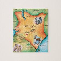 Map of Kenya Jigsaw Puzzle