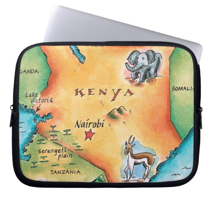 Map of Kenya Laptop Sleeve