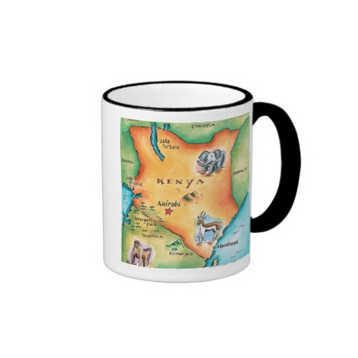 Map of Kenya Mugs