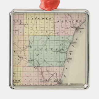 Map of Kewaunee County Christmas Tree Ornament